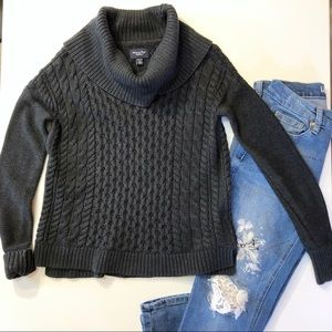 American Eagle Outfitters Cowl Neck Gray Sweater